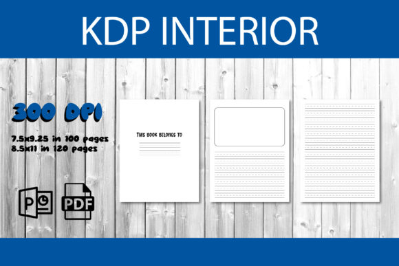 Print on Demand: KDP Interior Draw and Write Notebook Graphic KDP Interiors By IsaraDesign