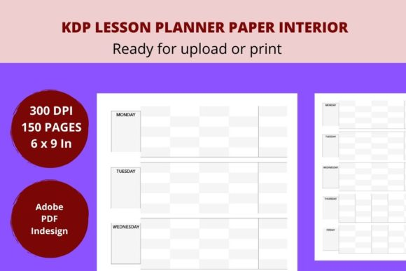 Print on Demand: KDP Lesson Planner Interior Graphic KDP Interiors By Creative arts