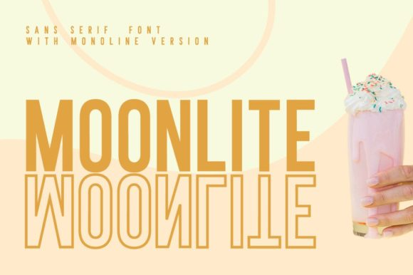 Print on Demand: Moonlite Sans Serif Schriftarten von Din Studio