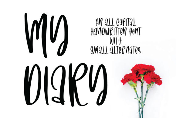Print on Demand: My Diary Script & Handwritten Font By BitongType