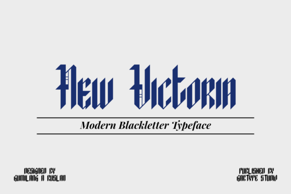 Print on Demand: New Victoria Display Font By GartypeStudio