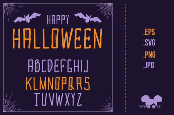 Oggleween Vector Alphabet Graphic Illustrations By typerookie
