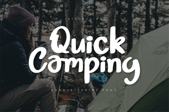 Print on Demand: Quick Camping Script & Handwritten Font By twinletter