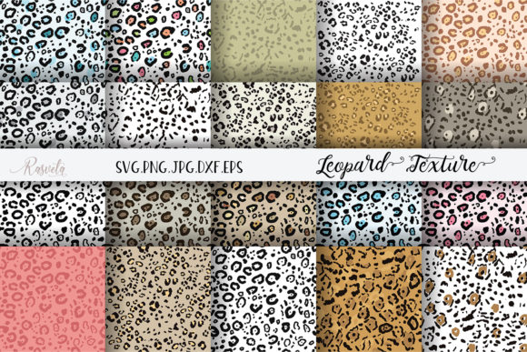 Seamless Rainbow Leopard Pattern Graphic Illustrations By Rasveta