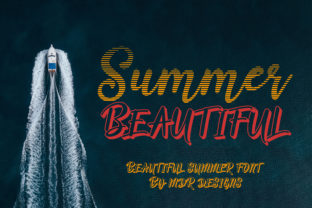 Print on Demand: Summer Beautiful Display Font By mdrdesigns99
