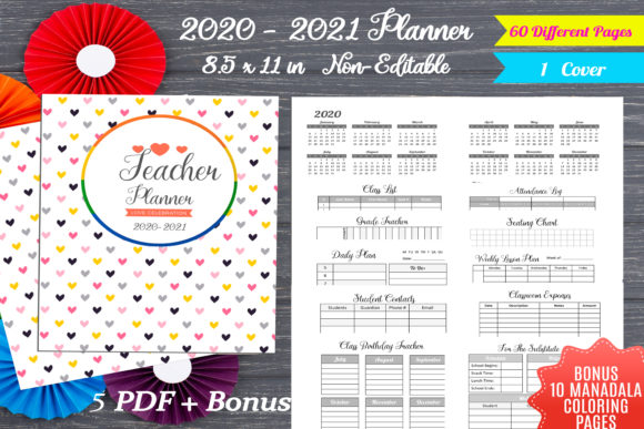 Print on Demand: Teacher Planner 2020-2021 Productivity Graphic KDP Interiors By Creative Crafts