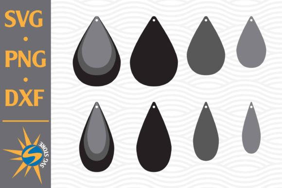 Print on Demand: Tear Drop Earring Graphic Crafts By SVGStoreShop