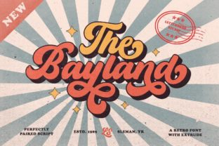 Print on Demand: The Bayland Display Font By letterhend 1