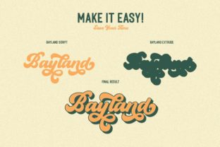 Print on Demand: The Bayland Display Font By letterhend 10