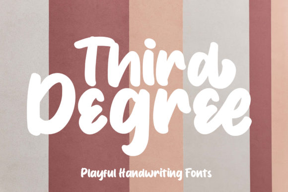 Print on Demand: Third Degree Script & Handwritten Font By Eifets