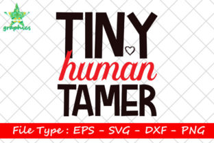 Print on Demand: Tiny Human Tamer Graphic Print Templates By Star_Graphics