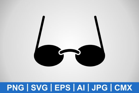 Print on Demand: Vector Solid Glasses Icon Graphic Icons By IYIKON