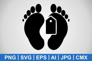 Print on Demand: Vector Toe Tag Icon Graphic Icons By IYIKON
