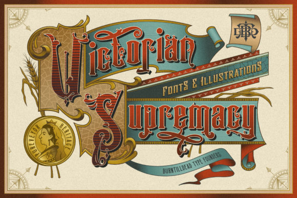 Print on Demand: Victorian Supremacy Serif Font By Burntilldead