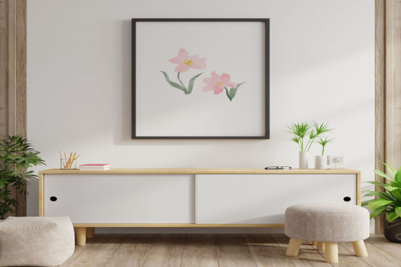 Watercolor Floral Graphic Nature By PoyJazz