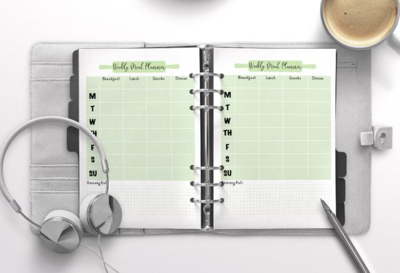 Weekly Meal Planner Olive Graphic KDP Interiors By Nickkey Nick