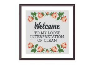 Print on Demand: Welcome Funny Cross Stitch Pattern Graphic Cross Stitch Patterns By Tango Stitch
