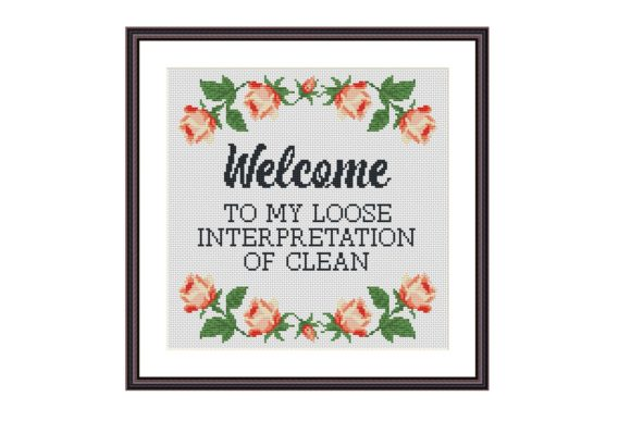 Welcome Funny Cross Stitch Pattern Graphic Cross Stitch Patterns By Tango Stitch