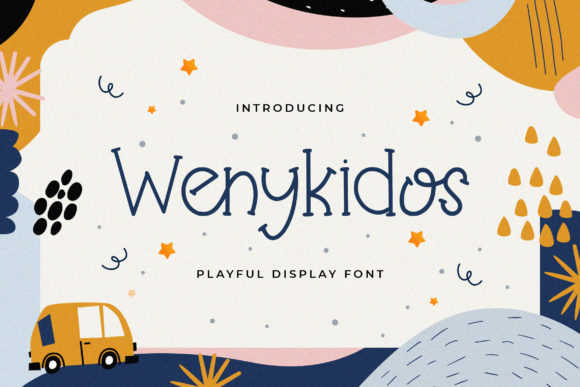 Print on Demand: Wenykidos Display Font By StringLabs