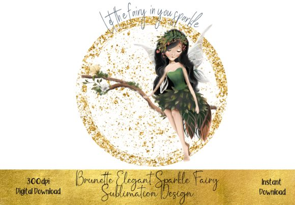Whimsical Fairy Sublimation Design Graphic Illustrations By STBB