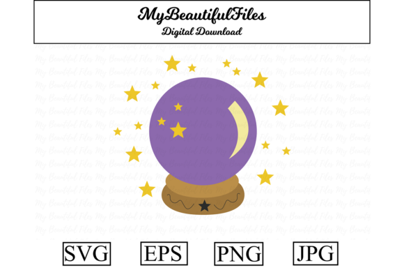 Print on Demand: Crystal Ball - Halloween Clipart Graphic Illustrations By MyBeautifulFiles