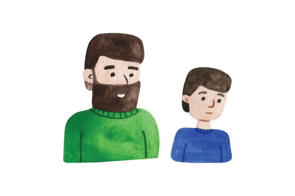 Father and Son Family Craft Cut File By Creative Fabrica Crafts
