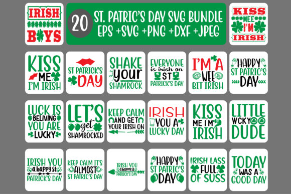 Print on Demand: 20 St. Patrick's Day Quotes Bundle Graphic Crafts By Design Store Bd.Net