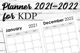 Print on Demand: 2021-2022 Weekly Monthly KDP Template Graphic KDP Interiors By Ten Times Studio