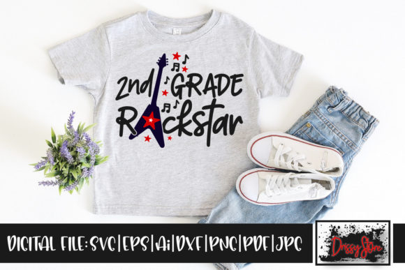 2nd Grade Rockstar Graphic Illustrations By DrissyStore