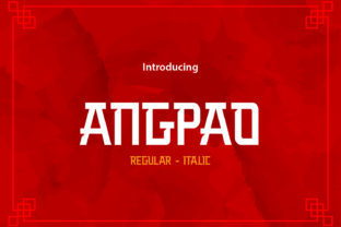 Print on Demand: Angpao Display Font By da_only_aan