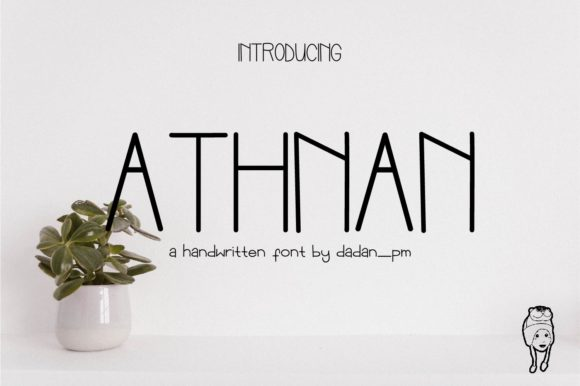 Print on Demand: Athnan Sans Serif Font By dadan_pm