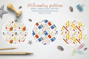 Back to School Seamless Pattern Graphic Patterns By By Anna Sokol