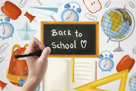 Print on Demand: Back to School Elements Graphic Illustrations By By Anna Sokol