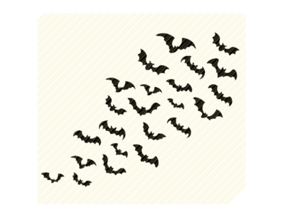 Print on Demand: Bats Flying Pattern Background Graphic Graphic Crafts By SVGPlaceDesign