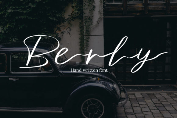 Print on Demand: Berly Script & Handwritten Font By iareCotton Duck