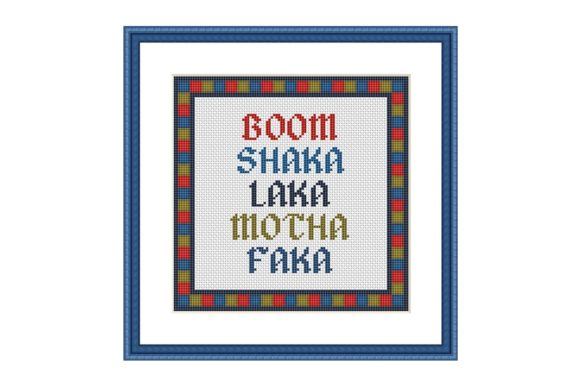Boom Funny Colorful Cross Stitch Pattern Graphic Cross Stitch Patterns By e6702