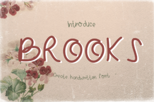 Print on Demand: Brooks Script & Handwritten Font By CSDesign