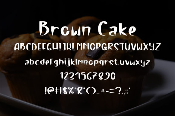 Brown Cake Font Design