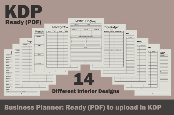 Business Planner, Ready to Upload on KDP Graphic KDP Interiors By Fayne