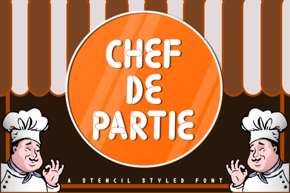 Print on Demand: Chef De Partie Display Font By estede75