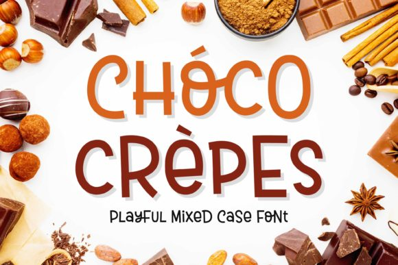 Print on Demand: Choco Crepes Display Font By variatype.id