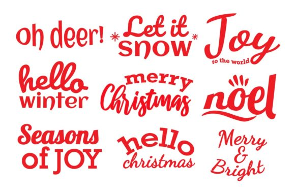 Christmas Quotes Bundle Graphic Illustrations By studioluckee