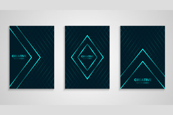 Cover Background with Geometric Lines Graphic Backgrounds By medelwardi