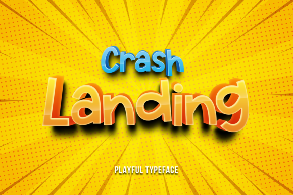 Print on Demand: Crash Landing Display Font By motokiwo