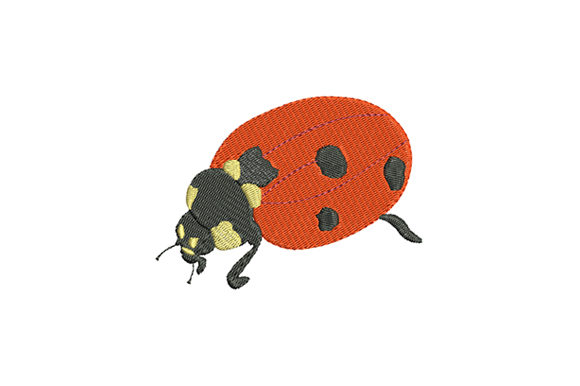 Print on Demand: Cute Ladybug on a Walk Bugs & Insects Embroidery Design By EmbArt