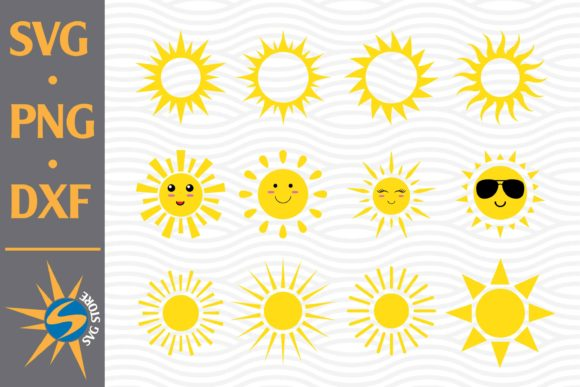 Cute Sun Graphic Crafts By SVGStoreShop