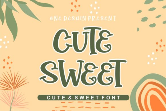 Print on Demand: Cute Sweet Display Font By One Desain