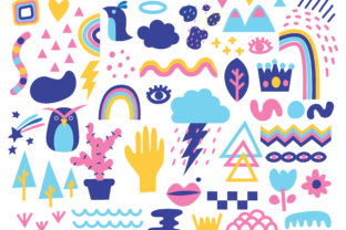 Cute Abstract Background in Doodle Style Graphic Backgrounds By Big Barn Doodles