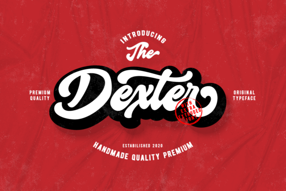 Print on Demand: Dexter Script & Handwritten Font By Ijem RockArt