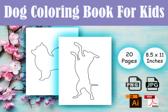 Print on Demand: Dog Coloring Book for Kids - KDP Graphic Coloring Pages & Books Kids By Sei Ripan